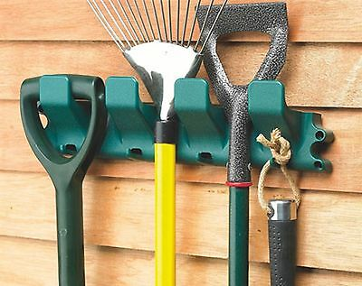 Garden Tool Equipment Hanger Holder Organiser Rack Tidy Shed Garage 8 Hook Store