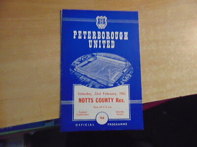 Reserves 1962/3 Peterborough United v Notts County Feb 23