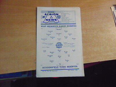 Reserves 1965/6  West Bromwich Albion v Huddersfield Town Jan 29