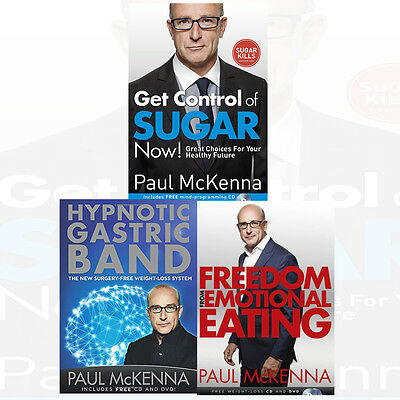 Paul mckenna collection of cds incl make you thin confidence and paul mckenna collection 3 books set get control of sugar nowhypnotic gastric fandeluxe Gallery