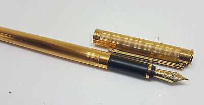 Used Montblanc Noblesse 18K Gold Plated Body Fountain Pen