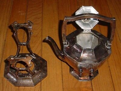 1972 Wilcox Silver Plated Tea POT & serving STAND. coffee