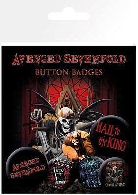 Avenged Sevenfold Hail to the King Badge Pack / Pin Set BRAND NEW