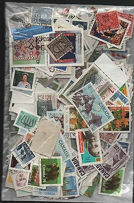 Canada Kiloware off paper 50gms fine used excellent selection 150+ stamps