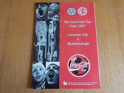 Middlesbrough v Leicester City Coca-Cola Cup Final Programme 6th April 1997