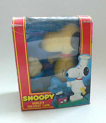 Vintage Aviva SNOOPY World's Greatest Cook Wind-Up Action Toy Boxed 1970's