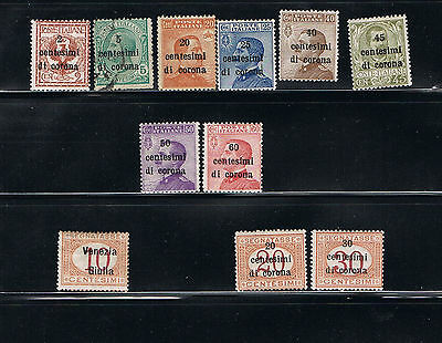 Austrian stamps - 1918-1919 - Italy Occupation Used-MLH set #3