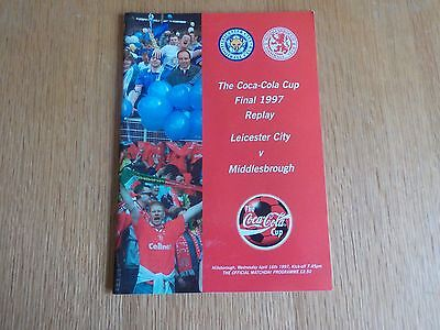 Middlesbrough v Leicester City Coca-Cola Cup Final Replay Programme 16 April 97