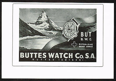 1940's Vintage 1947 Buttes Watch Co. - Paper Print AD