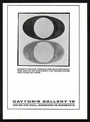 1960's Small Vintage KENNETH NOLAND art gallery print AD