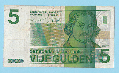 Netherlands .5 Gulden 1973 (With Torn). .(See The Descriptions)