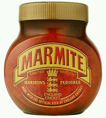 Marmite Marston's England Cricket Ball Jar New and Sealed 2009 Ashes- 250 grms