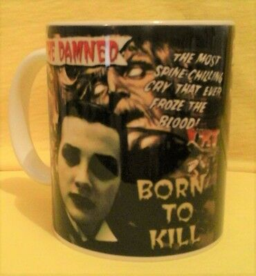 The Damned Born To Kill 1977 Cd Cover On A Mug.