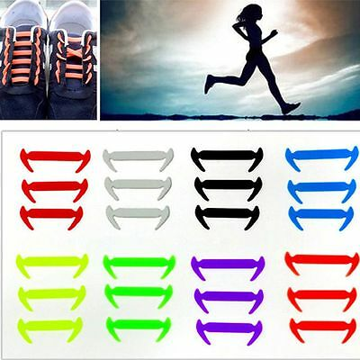 Strings Adults Sneakers 12PCS Elastic Laces Silicone Shoelaces No Tie