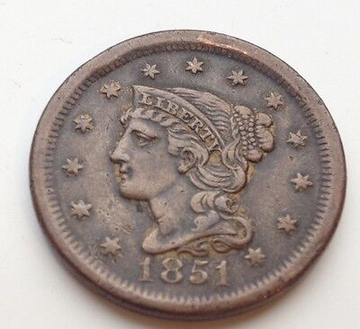 1851 Large United States Cent Coin