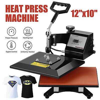 "12"" x 10"" Swing Away Digital Heat Press  Machine Transfer Sublimation T-shirt"