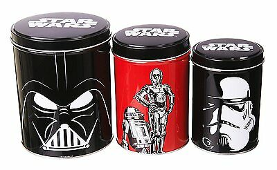 Star Wars Set of 3 Tin Storage Canisters
