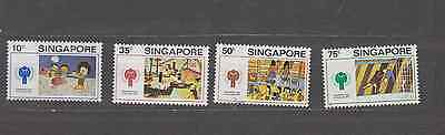 Singapore 1979 Year Of The Child Set Mint Never Hinged