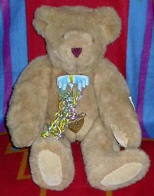 Vermont Teddy Bear Authentic Collector Happy Birthday Tag  1994 Jointed Bear