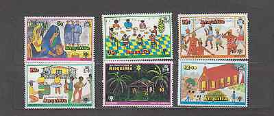 Anguilla 1979 Year Of The Child Set Mint Never Hinged