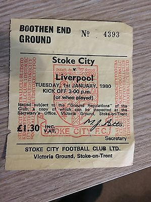 Stoke City V Liverpool Ticket 1980