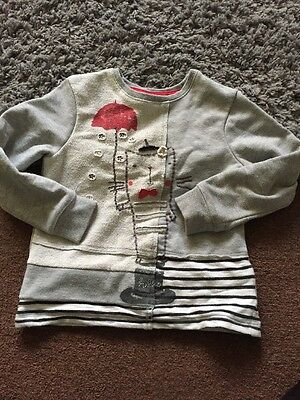Next Girls 4-5 French Cat Jumper Grey