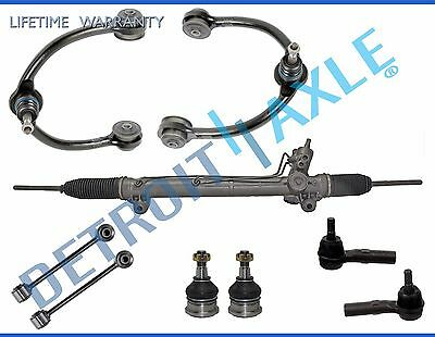 Detroit Axle 11PC Power Steering Rack and Pinion Upper /& Lower Control Arm Tie Rod Sway Bar Suspension Kit for 2004-2008 Acura TSX