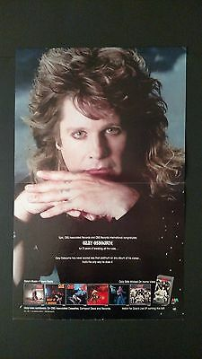 """Ozzy Osbourne """"he Does It His Way"""" 1989, Rare Original Print Promo Poster Ad"""