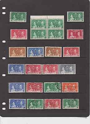 Ww British Colonies Old 1937 Coronation Stamps Used, Mint, Mh