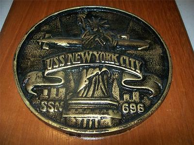 Uss  New York City Ssn 696 Us Navy Submarine Wall Plaque