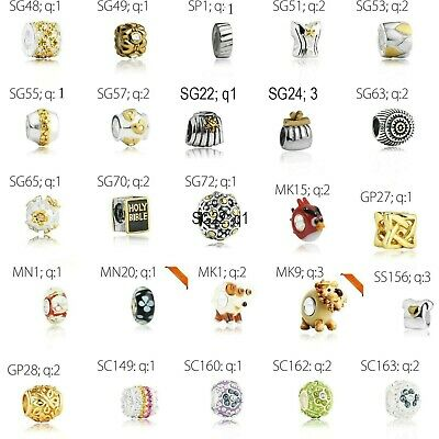 Job lot wholesale sterling silver charms 925 beads and bracelets European style