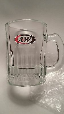 """Vintage A&W ROOTBEER MINI MINIATURE CHILD'S ROOT BEER  GLASS MUG c1970s 3"""" Tall"""