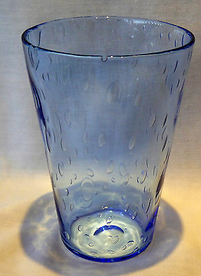 Whitefriars Sapphire blue glass vase with air bubbles Super Christmas Gift