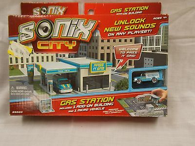 NIB Sonix City Gas Station includes 1 Add-On Building & 1 Micro Vehicle