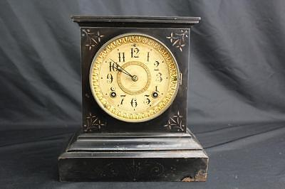 Vintage Ansonia Clock Co. Cast Iron Advertising Mantle Clock AS-IS Restoration