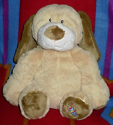 "Ganz Webkinz Jr. Tan Puppy Dog Plush 12"" stuffed animal  # WJ100 ( NO CODE )"