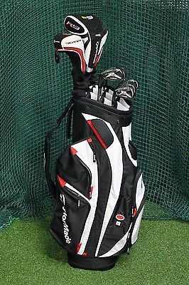 Left Hand Taylormade Burner Golf Clubs / Driver 3 Wood Irons Bag / 57289