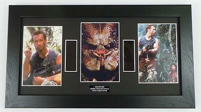 PREDATOR FILM CELL ARNOLD SCHWARZENEGGER LARGE Framed MOVIE MEMORABILIA DISPLAY
