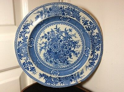 Antique 18th C Chinese Blue and White Porcelain Plate