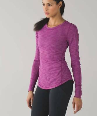 Lululemon 5 Mile LS Retail $78 HRGP Heathered Regal Plum NWT Shirt 2 4 6 8 10 12
