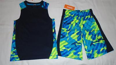 NEW Boys Size 5-6 Gymboree Outfit Go Active Tank Top & Shorts Athletic NWT
