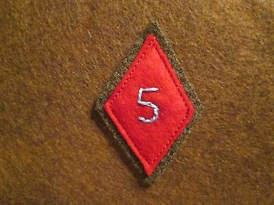 WWI US Army 5th Division Patch AEF
