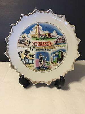 Mid Century 8in Nebraska State Collectible Plate