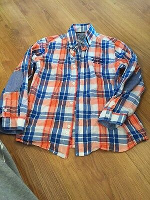 Boys Mayoral Checked Shirt Age 6 Years