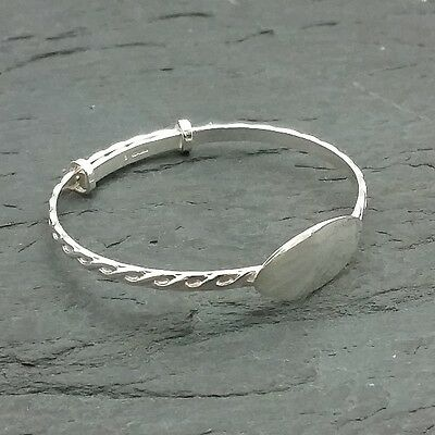 Sterling Silver Celtic Eternity Baby Bangle  ****free hand engraving****