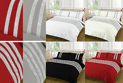 Diamond Stripe Luxury  Quilt Cover Egyptian Cotton Duvet Cover 200 Thread Count
