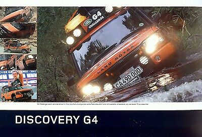 """2003 - LAND ROVER Discovery """"G4"""" limited edition - British sales brochure"""