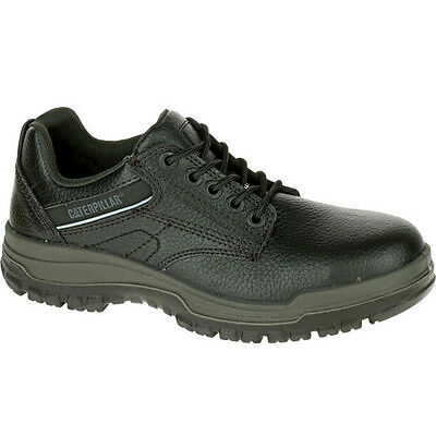 Caterpillar DIMEN STEEL TOE Mens Black Leather P90000 Work Safety Oxford Shoes