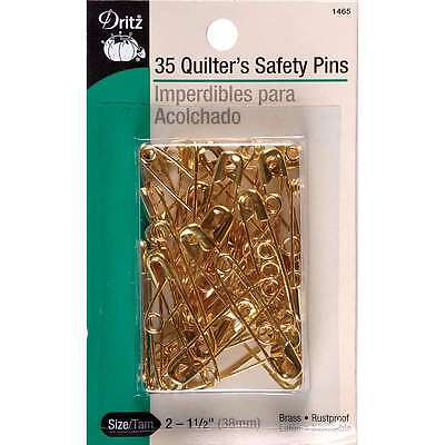 Quilters Safety Pins-Size 2 35/Pkg 072879104424