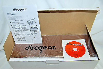 Discgear SELECTOR 120HD Brown Faux Leather Storage Case (NIB) (#S7000)